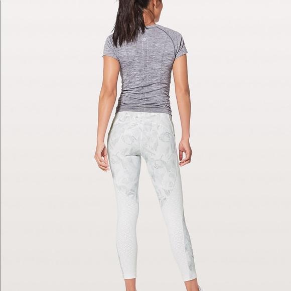ad3d49bc6 lululemon athletica Pants - Lululemon White Breezy Dot Leggings Size 6